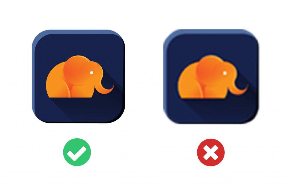 Jak przygotować pliki dla projektanta. Po lewej obrazek w dobrej jakości a po prawej w złej
